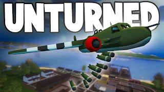 Unturned World War II PvP w/ Nylex: B-25 BOMBING RUN!!! (Custom WW2 Modded RP Server PvP)