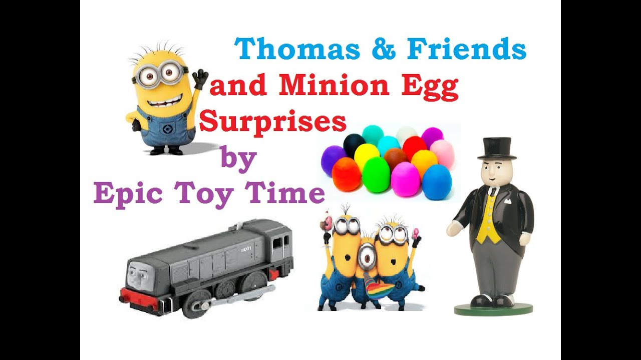 Thomas & Friends Playdoh Egg Surprises and Minions Story! - YouTube