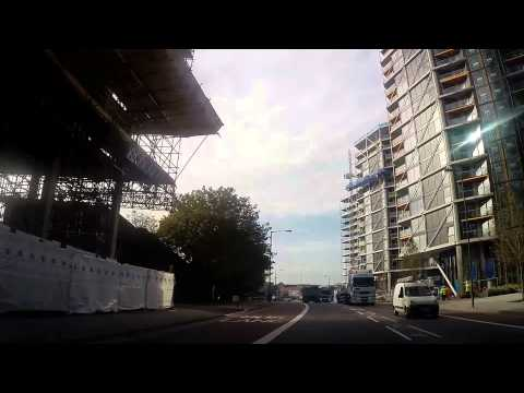 Driving in London - Vauxhall to Nine Elms