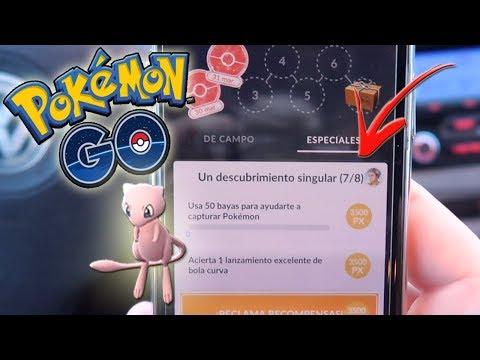 ¡COMPLETANDO INVESTIGACIONES ESPECIALES 5 y 6 en Pokémon GO! MEW está aquí ya!! [Keibron] thumbnail