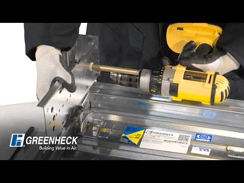 Greenheck Damper External to Internal Actuator Conversion Installation