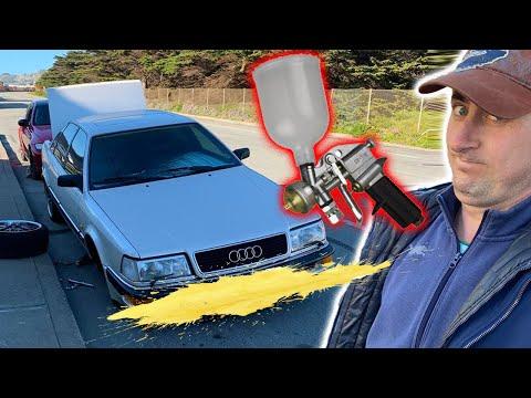 Audi  V8 Красим бампера Как у нас с работой в карантин ?