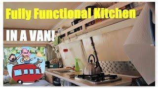 van conversion fully functional kitchen