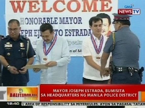 BT: Mayor Joseph Estrada, bumisita sa headquarters ng MPD