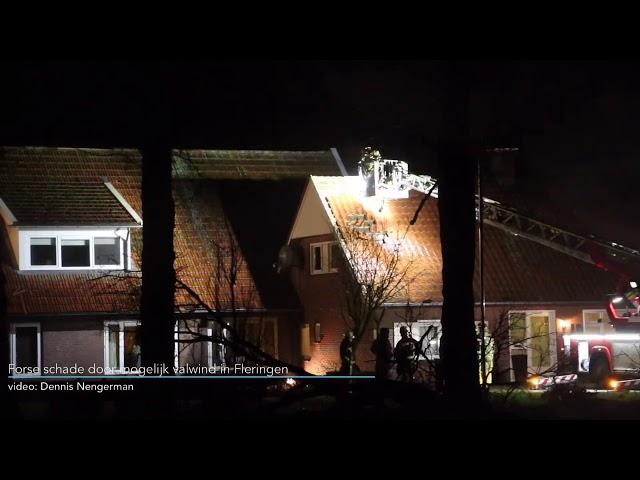 Forse schade door mogelijk valwind in Fleringen