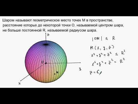 Как определить объем шара
