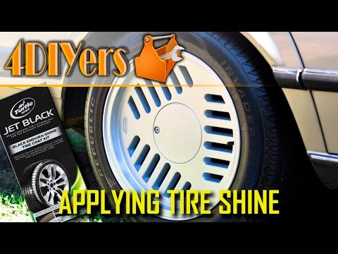 DIY: How To Apply Turtle Wax Jet Black Tire Dressing