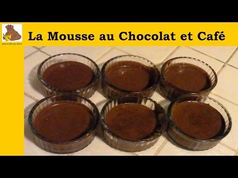 La mousse au chocolat et café (recette rapide et facile) HD