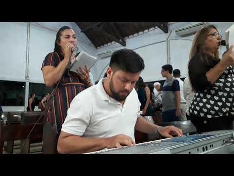 MAYKON TECLADISTA, ORAÇÃO PELA PAZ (Pe. Zezinho) na Igreja de São Sebastião-Santarém-PA