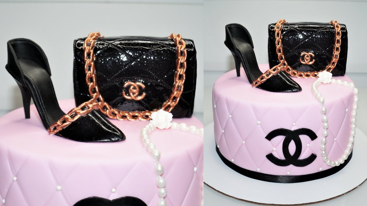 CHANEL PURSE CAKE TOPPER