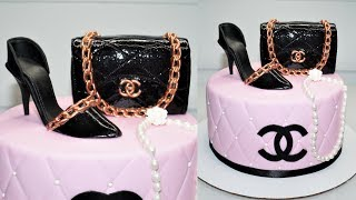 Cake decorating tutorials | how to make a CHANEL PURSE CAKE TOPPER | Sugarella Sweets