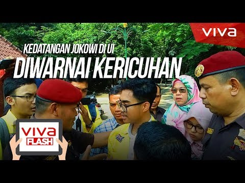 Kedatangan Jokowi ke UI diwarnai Kericuhan