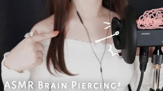 [ASMR] tok tok! head-penetrating ear cleaning|poke at eardrum🌙Brain tingle