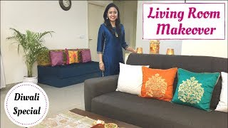 Living Room Makeover | Last Minute Diwali Decoration Ideas | Her Fab Way