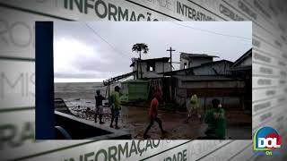 Pousada desaba em Marapanim, no Pará, devido força da maré. Veja o vídeo!