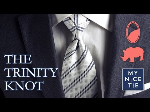 How To Tie Tie The Trinity Knot Slow Mirrored Beginner