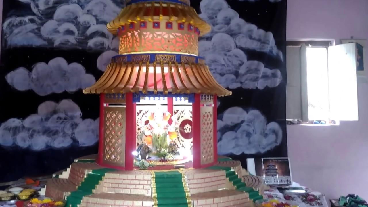 Thermocol Decoration For Ganpati 2017 Heaven Temple Of China Model Rohit Kamble S Home