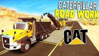 HUGE Caterpillar ROAD WORK & BRIDGE REPAIR PROJECT | Construction Simulator 2 Gameplay