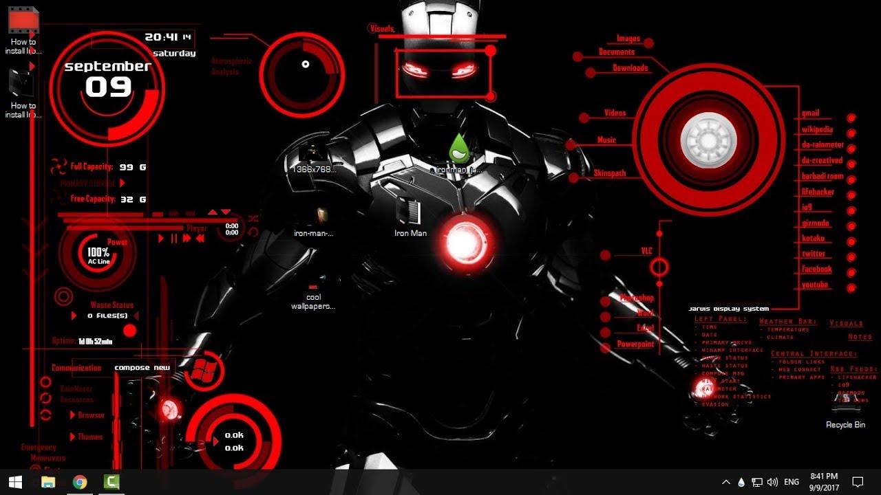 How to install Iron Man Jarvis theme on desktop