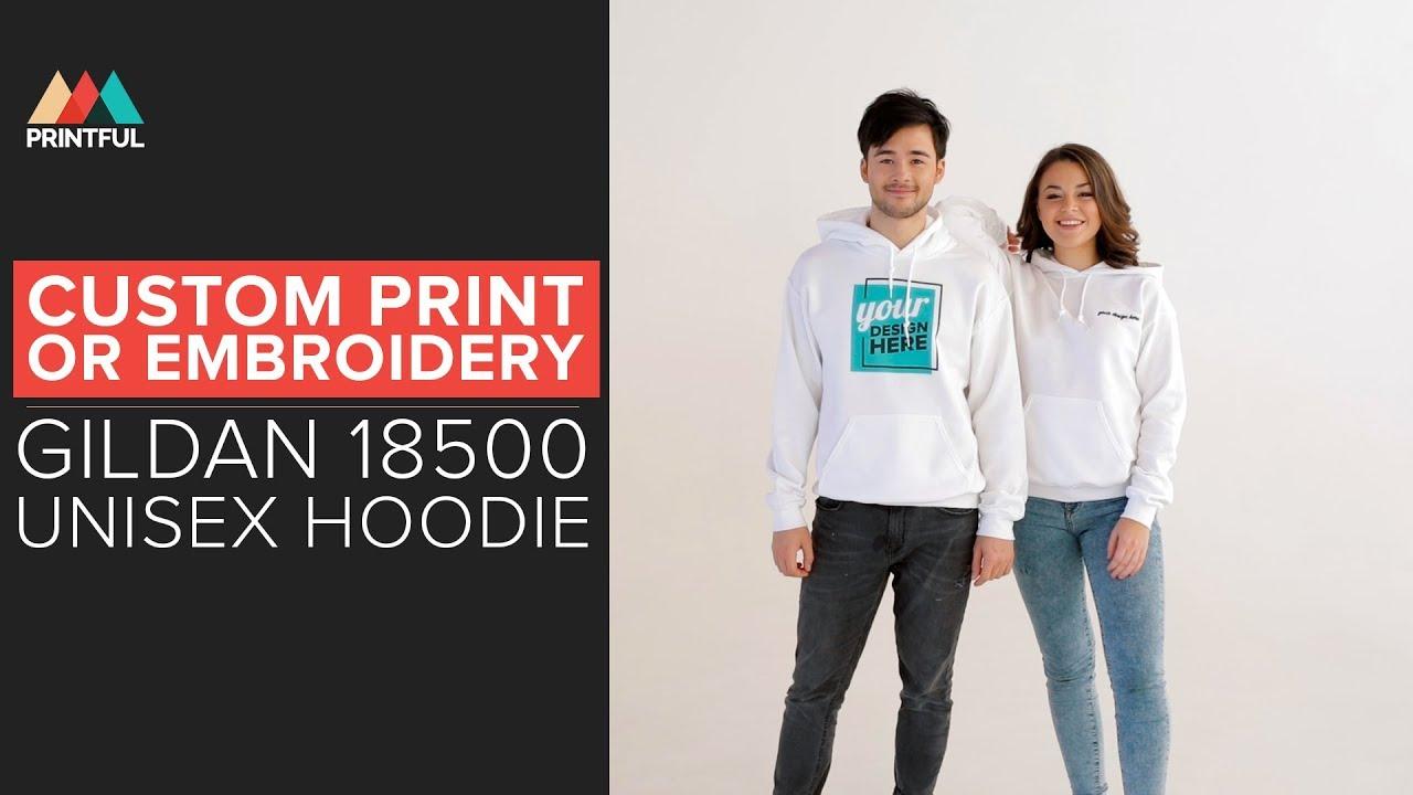 d0c2705f78274 Sell Custom Printed & Embroidered Hoodies (Gildan 18500): Printful