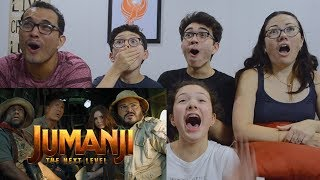 JUMANJI: THE NEXT LEVEL - Official Trailer REACTION!! | MAJELIV FAMILY REACTS