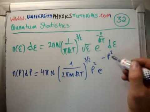 Quantum Statistics 32 a : Scalar Speed - Maxwell Boltzmann Distribution 1/3