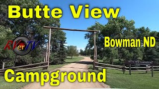 Butte View Campground - Boẁman North Dakota