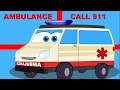 Ambulance | Vehicle Song And Rhymes For Kids | Cartoon ambulance