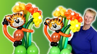 Jungle safari animal balloon centrepiece tutorial - how to make jungle balloon animal centrepiece