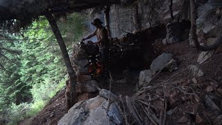 Overnight on my fiŗst stone shelter with my puppy: on the mountain on a slope at1300 meters height