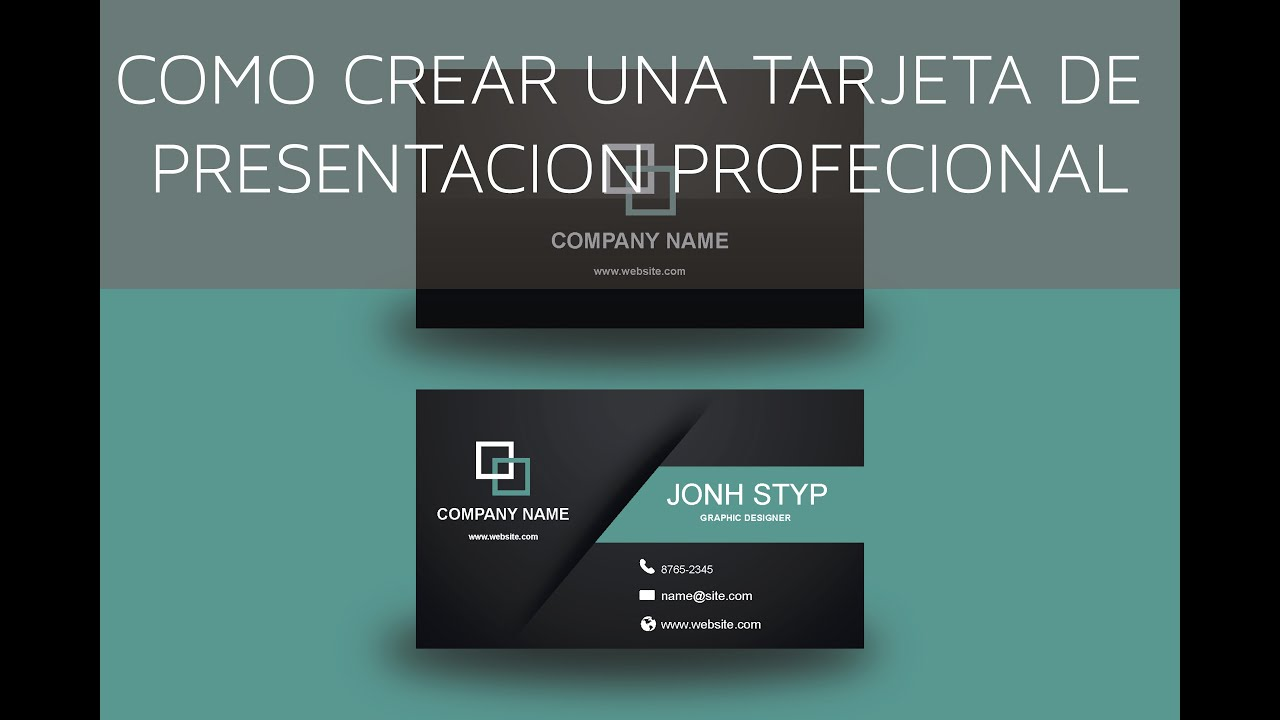 como diseñar una tarjeta de presentación profesional en illustrator ...