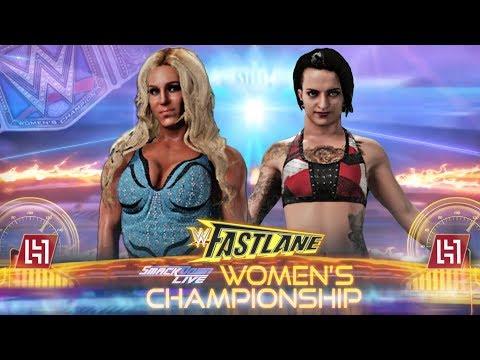 WWE 2K18 Charlotte vs Ruby Riot Women's Championship Fastlane 2018 Match