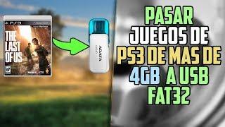 PASAR JUEGOS DE PS3 DE MAS DE 4GB A USB FAT32 (SOLO JUEGOS FORMATO CARPETA JUGANDO CON MULTIMAN)