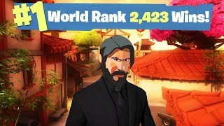#1 Fortnite World Ranked - 2,423 Solo Wins thumbnail
