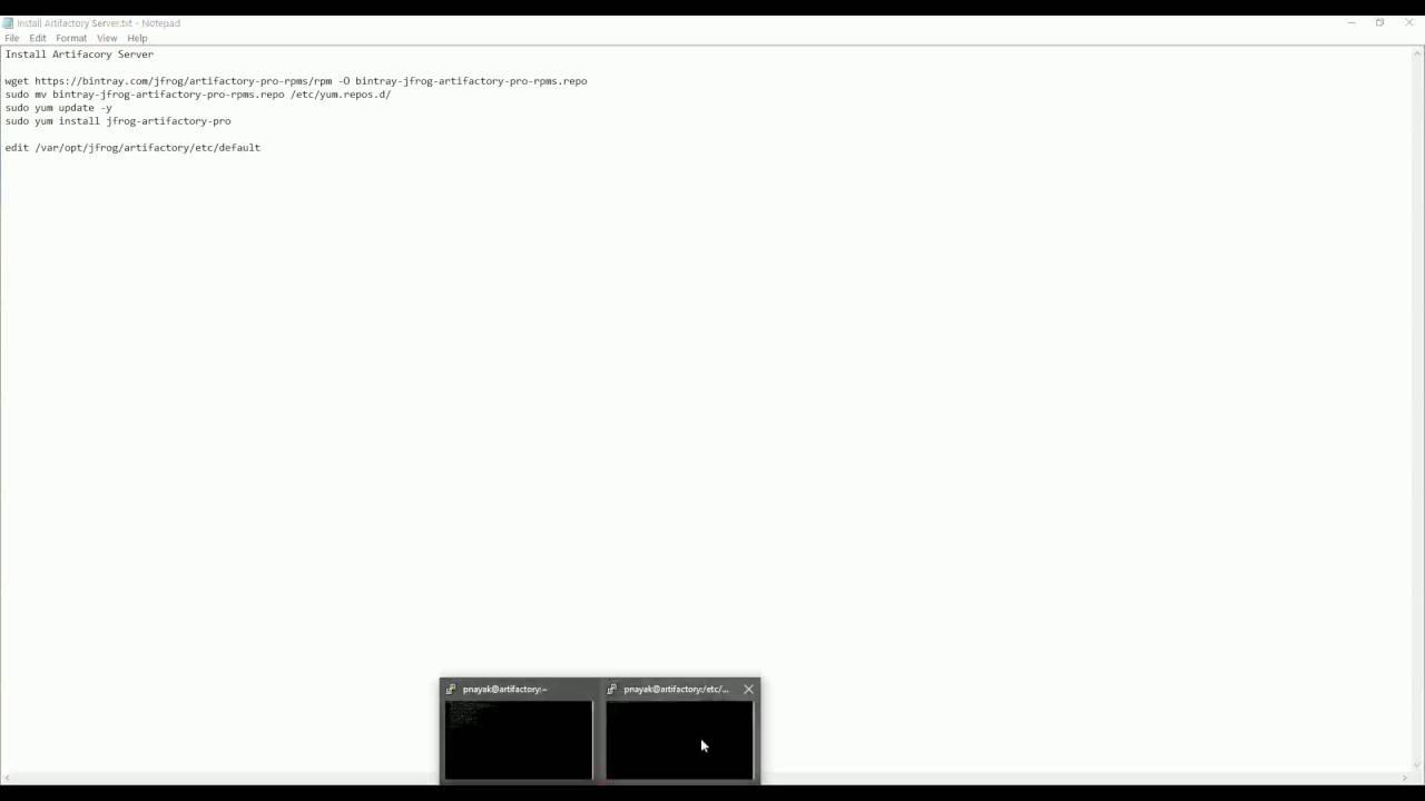 Installing Artifactory Server
