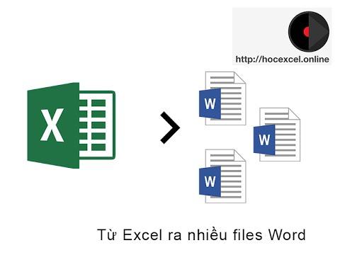 VBA36 Điền dữ liệu vào Word từ Excel