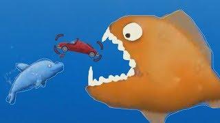Приключение маленькой ГОЛОДНОЙ РЫБЫ Дельфин обжора игра мультик для детей Приключение маленькой рыбы