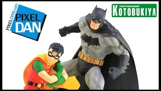 Batman and Robin Jim Lee Kotobukiya ArtFX+ 1/10 Scale Staue Video Review