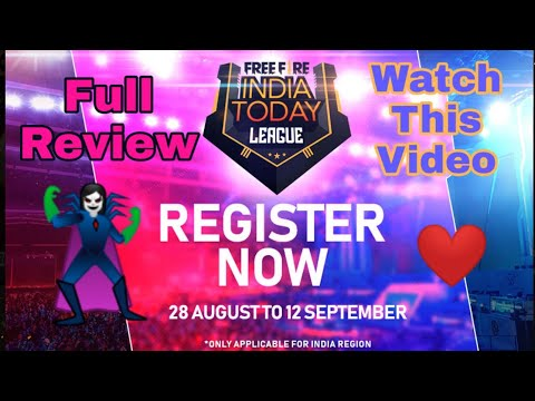 Free Fire India Today League Full Review || Register Now