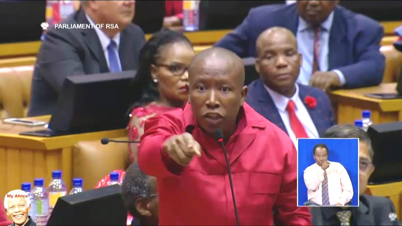 Julius Malema And EFF Disrupt SONA 2017 #1