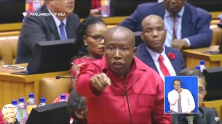 Julius Malema And EFF Disrupt SONA 2017