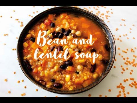 Bean And Lentil Soup | VEGAN
