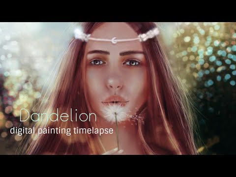 Photoshop Digital Painting Timelapse | Dandelion