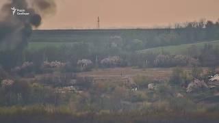Момент вибуху машини ОБСЄ у Луганській області