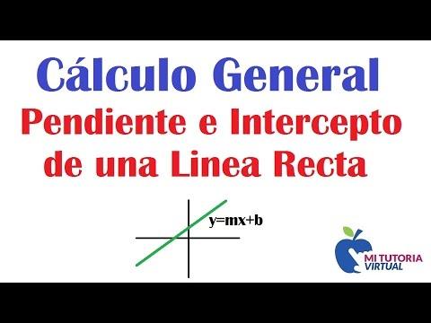 Ejercicio Pendiente e Intercepto de una Linea Recta - Gráfica - Mi Profesor - Video 030