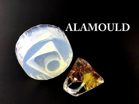 Making Chunky Resin Ring with Colorful Moss! Using ALAMOULD Clear Silicone Mold!