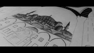 THE BLUE MOSQUE-DRAWING