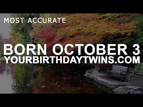 Born on October 3 | Birthday | #aboutyourbirthday | Sample