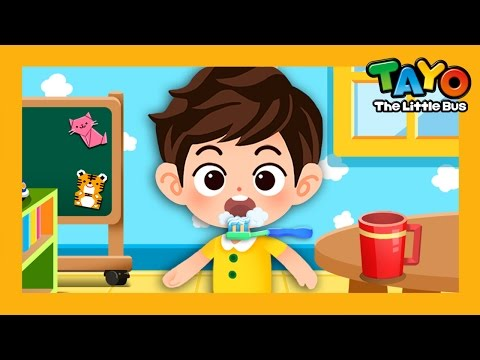 Brushing Teeth l Habit Game #5 l Learn Street Vehicles l Tayo the Little Bus