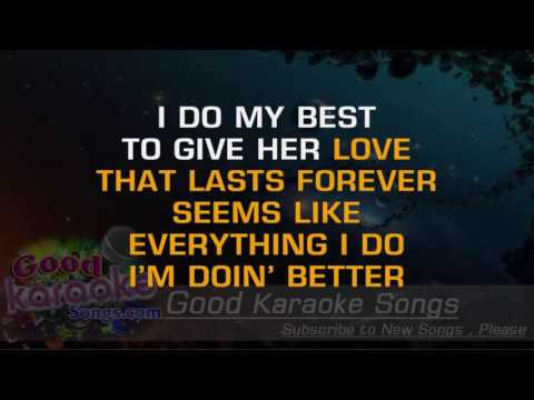 Doing It All For My Baby -  Huey Lewis And The News (Lyrics Karaoke) [ goodkaraokesongs.com ]